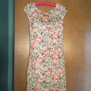 Free People floral stretchy lace dress.